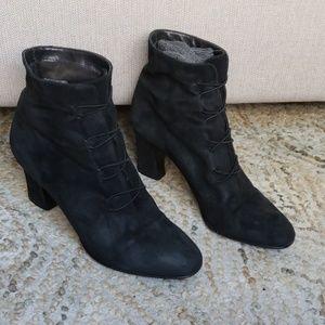 Nine West Suede Lace Up Heel Boot